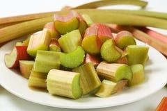 Chopped rhubarb Royalty Free Stock Image