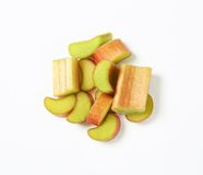 Chopped rhubarb Royalty Free Stock Images