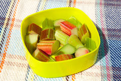 Chopped Rhubarb Stock Images
