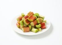 Chopped rhubarb Stock Photo