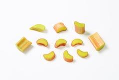 Chopped rhubarb Stock Image