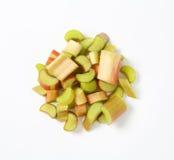 Chopped rhubarb Stock Photos