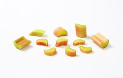 Chopped rhubarb Stock Photography
