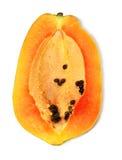 Chopped ripe papaya Stock Images