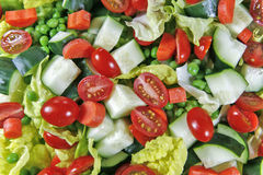 Chopped Salad Background stock photo