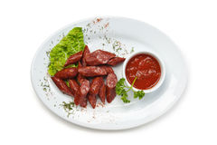 Chopped sausages Royalty Free Stock Photography