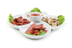 Chopped sausages Royalty Free Stock Image