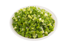 Chopped Scallions In Bowl II Stock Photo