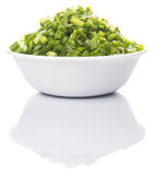 Chopped Scallions In Bowl IV Stock Image