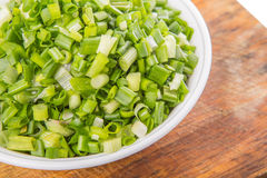 Chopped Scallions Close Up View II Royalty Free Stock Photo