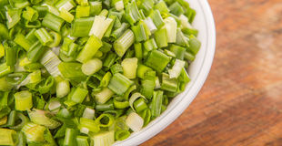 Chopped Scallions Close Up View III Royalty Free Stock Image