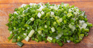 Chopped Scallions Close Up View IV Royalty Free Stock Photos