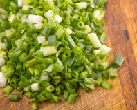 Chopped Scallions Close Up View V Stock Image