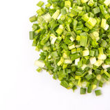 Chopped Scallions Close Up View VII Stock Photography