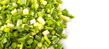 Chopped Scallions Close Up View VIII Stock Images