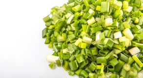 Chopped Scallions Close Up View XI Stock Images