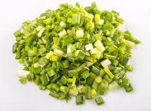 Chopped Scallions Close Up View XII Stock Photos