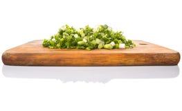 Chopped Scallions On Cutting Board V Royalty Free Stock Photo