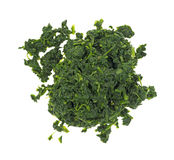 Chopped spinach Royalty Free Stock Image