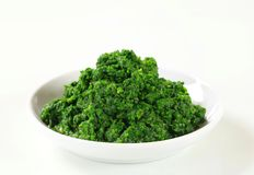 Chopped spinach Royalty Free Stock Photos