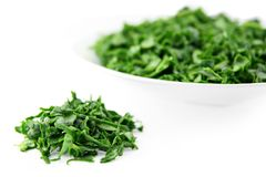 Chopped spinach Stock Images