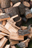 Chopped and split wood Royalty Free Stock Image