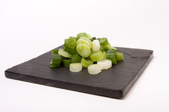 Chopped Spring Onions Stock Photos