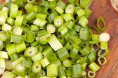 Chopped spring onions Royalty Free Stock Photography