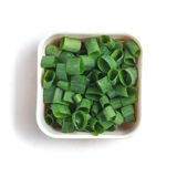 Chopped Spring Onions Stock Photo
