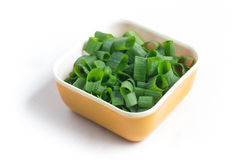 Chopped Spring Onions Royalty Free Stock Photo