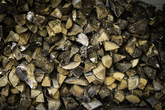 Chopped and stacked firewood Royalty Free Stock Photography