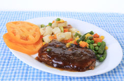 Chopped Steak Dinner Stock Photos