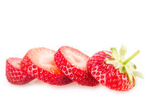 Chopped strawberries Royalty Free Stock Images