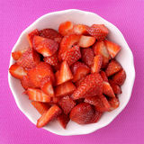 Chopped strawberries Stock Images
