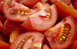 Chopped Tomato. Chopped Red Tomato Textured Background stock image