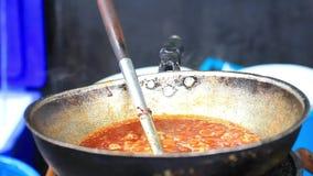 Chopped tomato in a pan. Preparing Tomato sauce. stock video