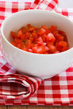 Chopped Tomatoes Stock Photo