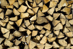 Chopped up birch trees. Pile of chopped birch and aspen trees Stock Photo