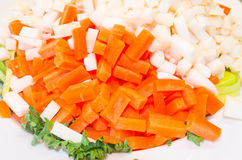 Chopped vegetable varieties Royalty Free Stock Photo