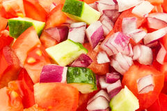 Chopped vegetables Royalty Free Stock Image