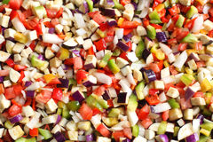Chopped vegetables. Royalty Free Stock Photography