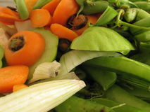 Chopped Vegetables. Vegetable pieces chopped in small chunks. This is used as fiber Stock Image