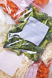 Chopped Vegetables In Freezer Bags Stock Image