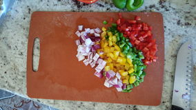 Chopped vegetables Royalty Free Stock Photography