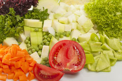 Chopped vegetables for soup Stock Image