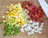 Chopped Vegetables Royalty Free Stock Images