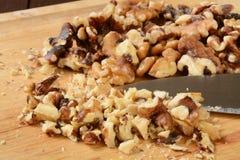 Chopped walnuts Stock Photography