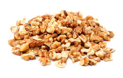 Chopped walnuts royalty free stock images