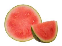 Chopped  watermelon Stock Images