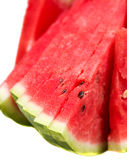 Chopped watermelon. On a white backround royalty free stock photography